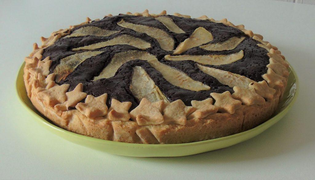 Crostata con cacao e pere